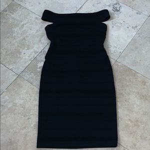 TED BAKER OFF SHOULDER BLACK DRESS